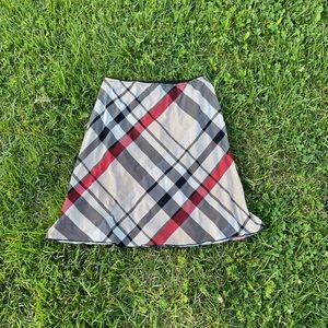 Wrapper Y2K stretchy large plaid print skirt